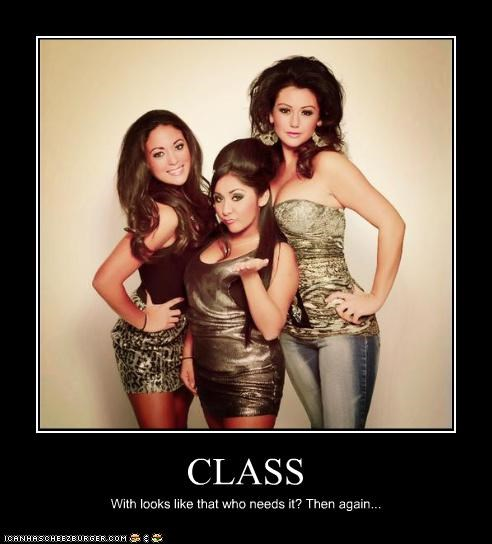 CLASS With looks like that who needs it? Then again...