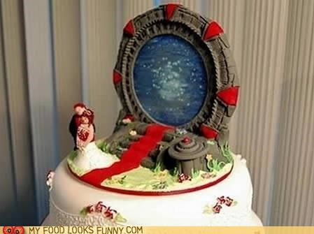 cake,edible,fondant,Stargate,wedding