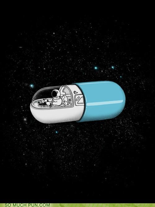 capsule literalism space space capsule T.Shirt