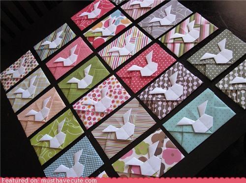 bunny envelopes ntes origami paper patterns - 4763672064