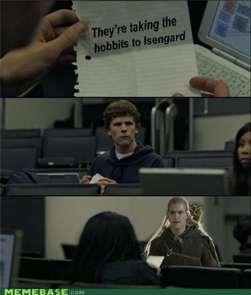 hobbits,isengard,legolas,Lord of the Rings,Memes,pippin,zuckerberg