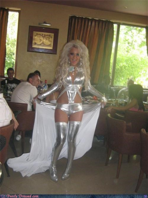 dinner party silver stripper - 4764313600