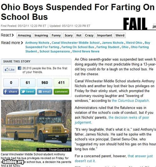 failboat fart g rated Probably bad News punishment school school bus - 4764414976