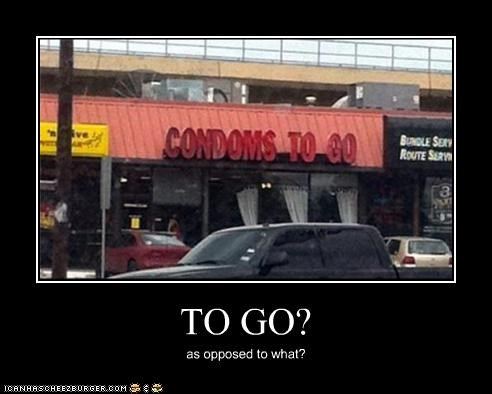 TO GO? as opposed to what?