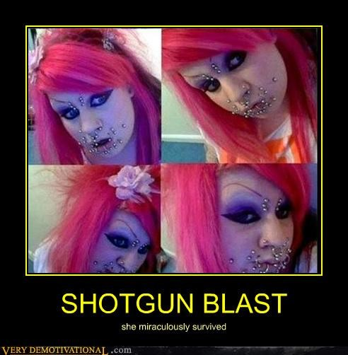 SHOTGUN BLAST she miraculously survived