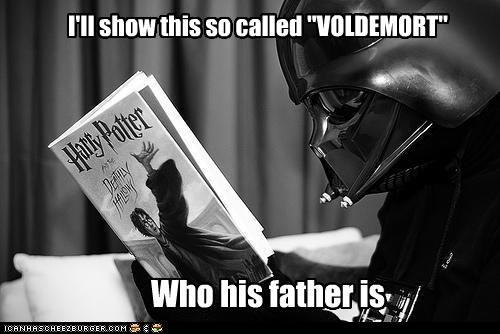 "I'll show this so called ""VOLDEMORT"" Who his father is"