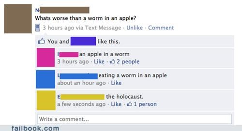 apple,bad things,holocaust,worm