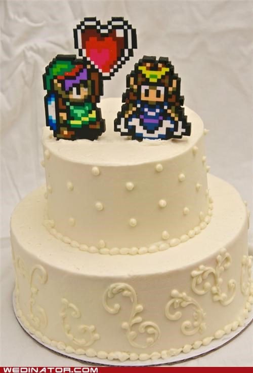 cake funny wedding photos Hall of Fame nerd video games zelda
