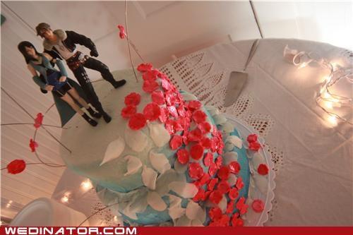 final fantasy funny wedding photos video games wedding cake - 4765722624