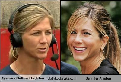 actresses coach jennifer aniston leigh ross softball sports