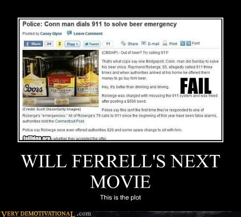 beer emergency,hilarious,news,Will Ferrell