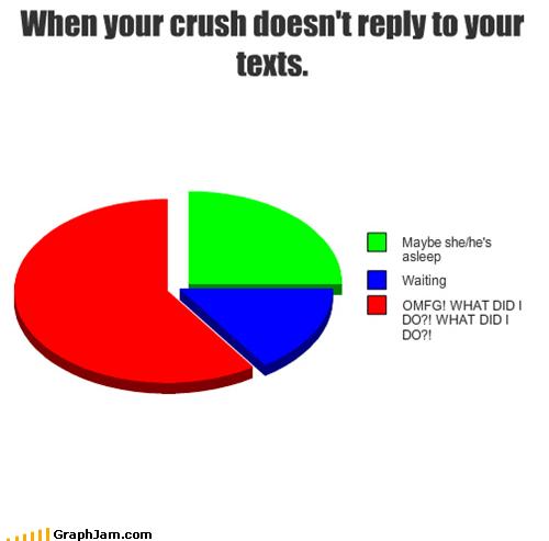 crush phone Pie Chart texting - 4766591744