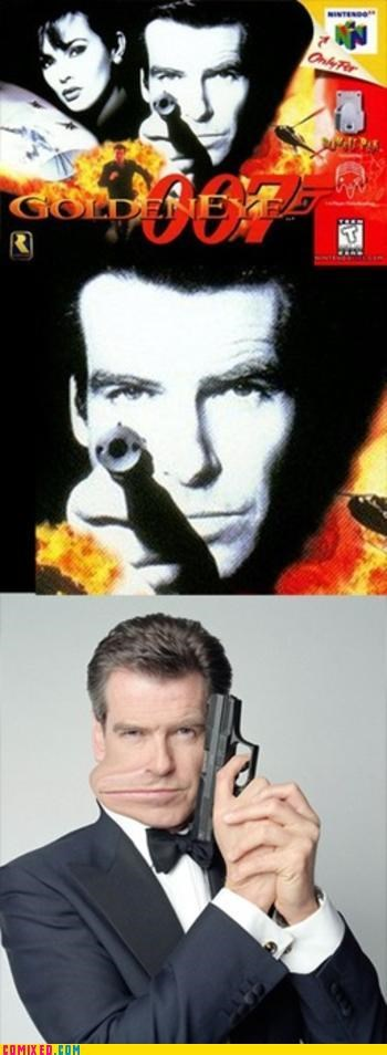 golden eye,james bond,mouth,video games
