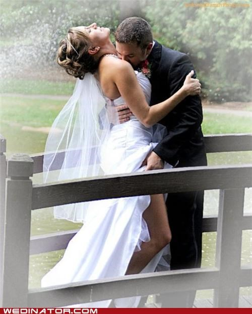 bride,funny wedding photos,groom,PDA