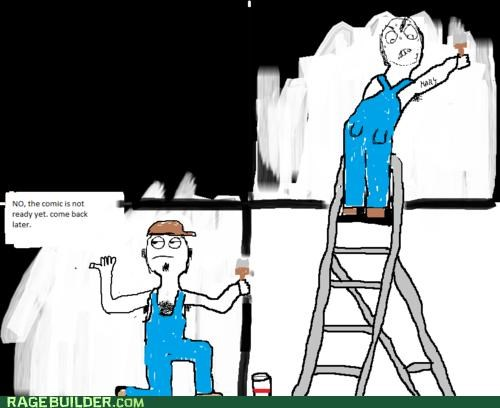 back,comic,few,ladder,paint,Rage Comics