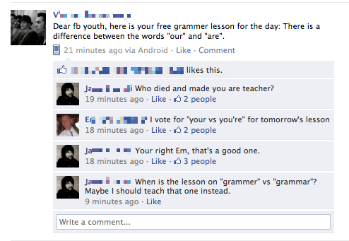 facepalm grammar spelling your friends are laughing at you - 4767072512