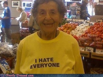 hatred,old people,T.Shirt