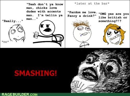 British,drink,Rage Comics,smashing