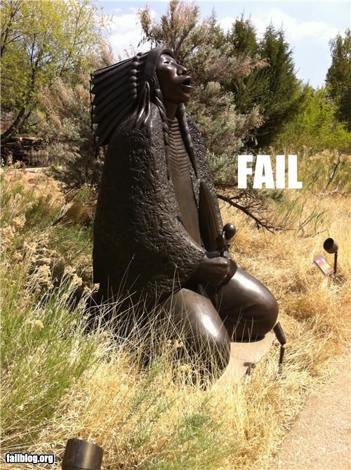 failboat innuendo native american p33n statue Things That Are Doing It - 4767435776