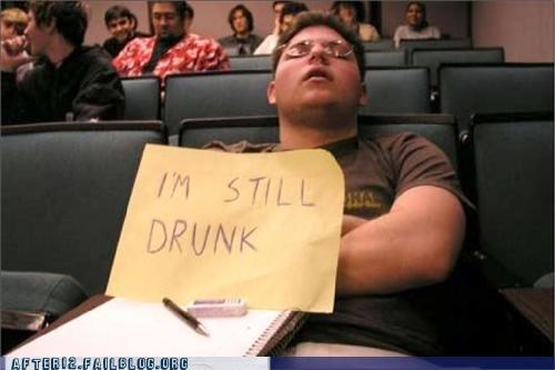 class,drunk,passed out,sign