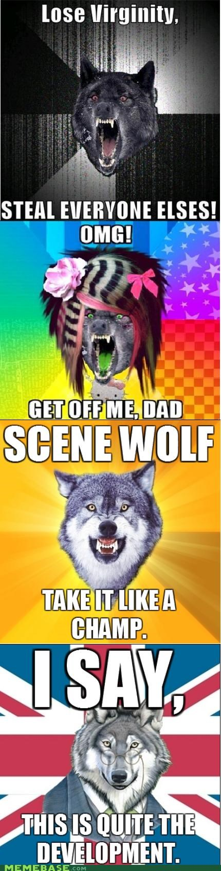 Courage Wolf Insanity Wolf reunion saga scene wolf wolves - 4767640320