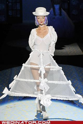 Betsey Johnson,bridal fashion,funny wedding photos,poll,runway