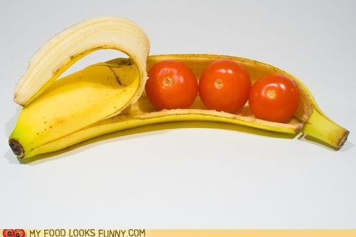 banana peel,tomatoes,wtf