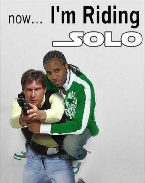 chewy Han Solo Memes riding solo shaved star wars - 4767826176