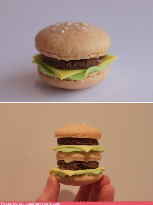 burger cookies epicute fondant macarons sesame seeds - 4767880448