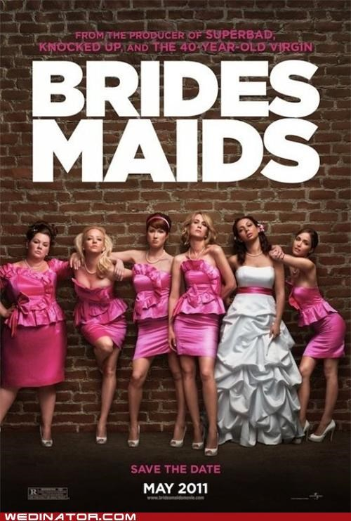 bridesmaids,funny wedding photos,movies