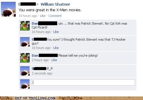 facebook,patrick stewart,Star Trek,William Shatner