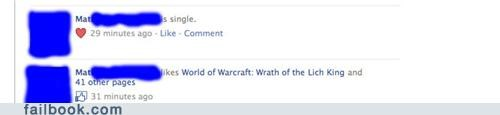 world of warcraft,forever alone,single,dating,failbook,g rated