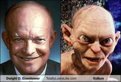dwight d eisenhower,gollum,Lord of the Rings,presidents