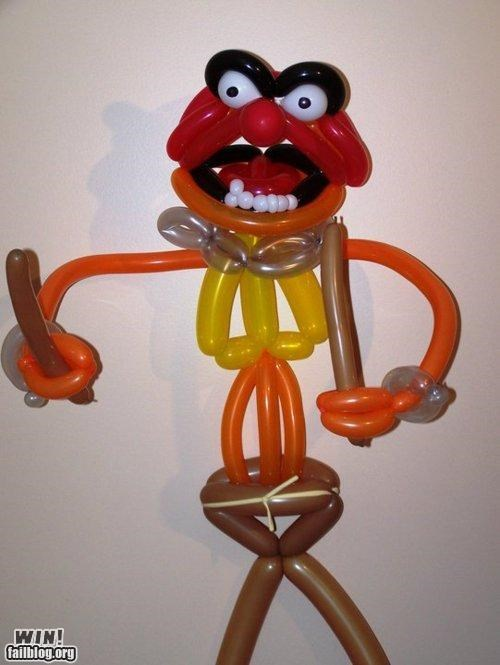 animal,awesome,ballons,balloon animals,muppets