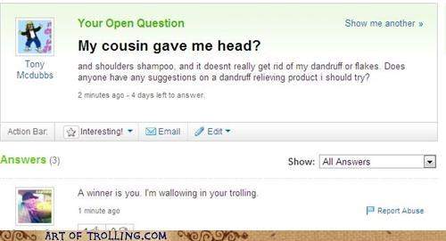 bait and switch,dandruff,shampoo,Yahoo Answer Fails