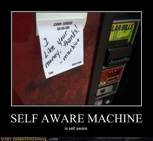 hilarious money self aware soda machine - 4769216512