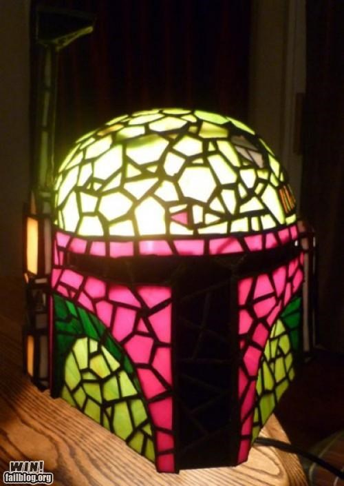 boba fett,furniture,lamp,nerdgasm,star wars,Tiffany Lamp