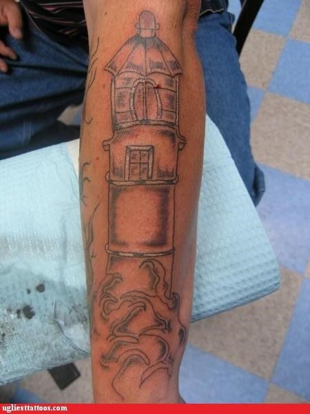 phallic lighthouse tattoos veins funny - 4769305600