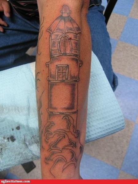 phallic lighthouse tattoos veins funny - 4769305600
