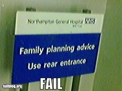 classic failboat family planning innuendo pregnancy rear entrance signs - 4769426688