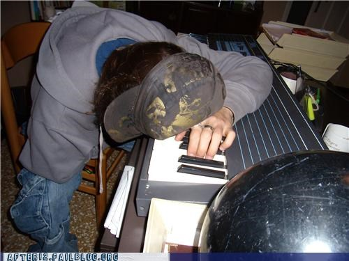 drunk,keyboard,passed out