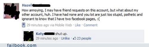 annoying friend request shut up