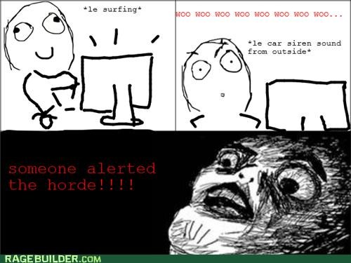 alarmed cars,horde,l4d,Rage Comics,video games