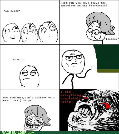 FAIL Rage Comics school shame - 4770567424