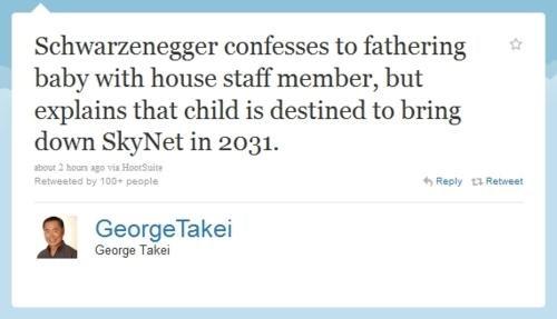 Arnold Schwarzenegger,george takei,tweet