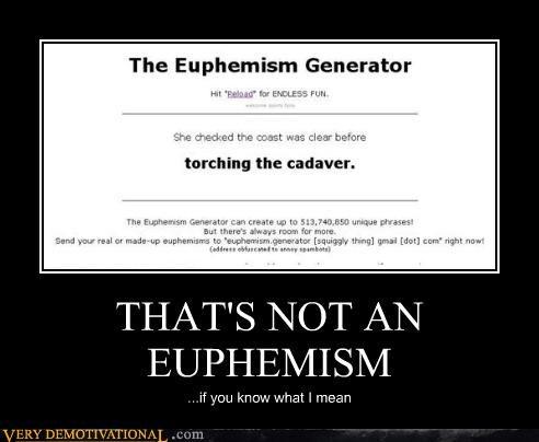 euphemism hilarious wtf - 4770944768