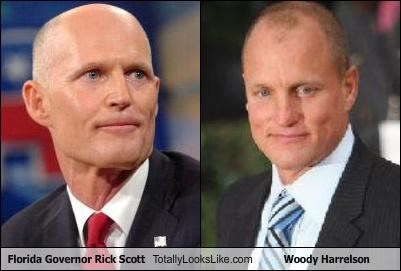 actors,florida,Governor,politicians,Rick Scott,woody harrelson