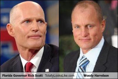 actors florida Governor politicians Rick Scott woody harrelson - 4771023616