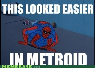 balls,bombs,Metroid,morph,Spider-Man,superheroes