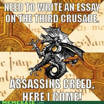 assassins creed,history,Memes,reluctant,school,video games